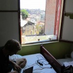 a dorm room with a view in Valparaiso