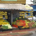 a typical fruit stand in this fruitful region