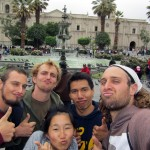 Plaza de Armas with Lisa and Gilmer