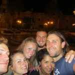 we were 8 trekkers strong that night- we torn up the town
