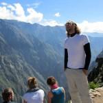 looking for condors, trekking hard