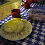the cheapest, most filling meal we may ever have (~80 US cents)