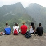 our group of 5 atop Wayna Picchu