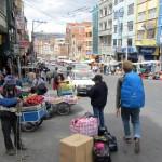the hike to the hostel, La Paz