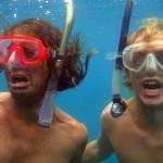 snorkelin' hard
