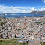 high peak view of Puno