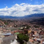 a view of Medellin from the metro gondola