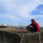 a skyline view from the wall around Cartagena
