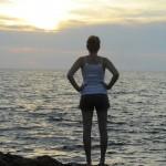 sunset on el Caribe