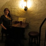 a pint at Yo Olde Cheshire Cheese- super old pub (we're talking 1500s)
