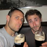 bomb-tasty Guinness with my man Casey- watched ManCity snag the Premiere League title from ManU- very cool, very UK