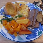 what a proper English Sunday roast looks like. not trivial to prepare, but totally worth it