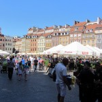 old-town Warsaw, reconstructed after being destroyed by the war