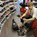 of course he opted for the epic-trekking sandal upgrade