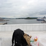 breakfast with a view, atop Oslo's opera house