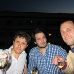 when hanging with French guys, drink wine!