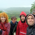 Latvia's tallest mountain, in the rain, with friends of friends of friends