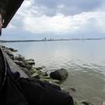 Tallinn from a stop on a bike ride along the peninsula