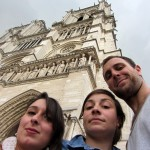 Notre Dame cathedral with Marine and Isabella