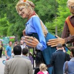 giant puppets in the Bois de Boulogne