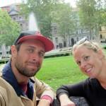breakfast in our favorite Zagreb park
