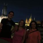 nighttime city walk with CS friends