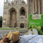 a fine lunch by the cathedral